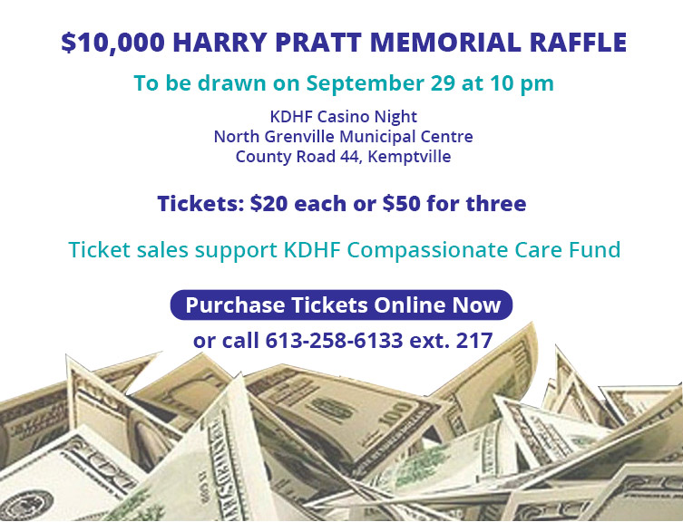 $10,000 Harry Pratt Memorial Raffle